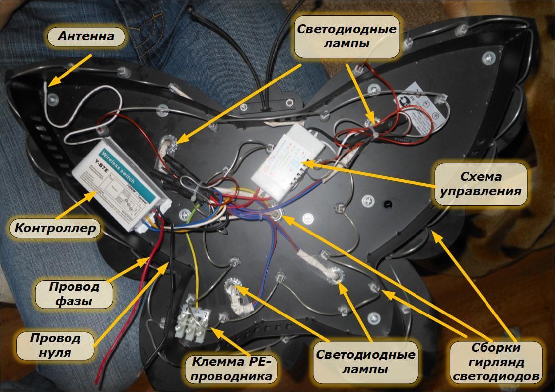 Схема люстры с пультом ДУ