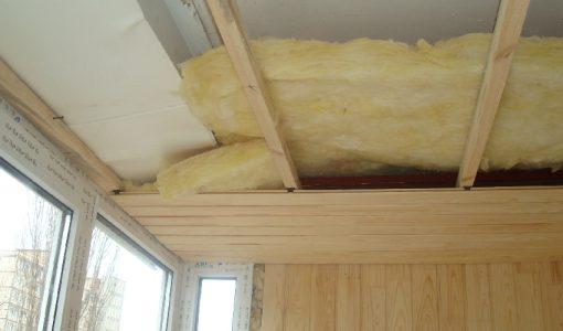 Вагонка при утеплении потолка